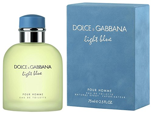 D & G Light Blue By Dolce & Gabbana For Men, Eau De Toilette Spray, 2.5-Ounce - Lasting Perfume Citrus