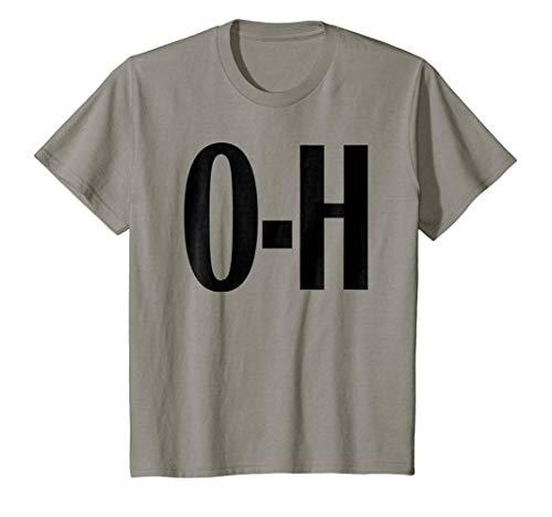 Kids O-H Couples Matching Ohio Sports Football Funny Fun T-shirt 10 Slate -