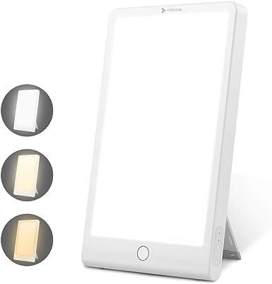 Image of HOSOME Lámpara de Terapia de Luz 10,000 Lux SAD con Colores y Brillo Ajustables,3 Configuraciones de Temporizador, USB Alimentado y Tamaño Compacto, Control Táctil