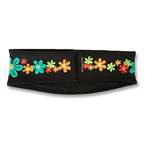 ArtSmackedByCherTM Wide Flower Sports Headband for Women. Moisture Wick Absorbs Sweat. A Polyester/Spandex Athletic Sportsband, Non-Slip, Cooling, Fashionable. Great for Gym, Running, Yoga, Crossfit. by ArtSmackedByCher(TM) (Image #2)