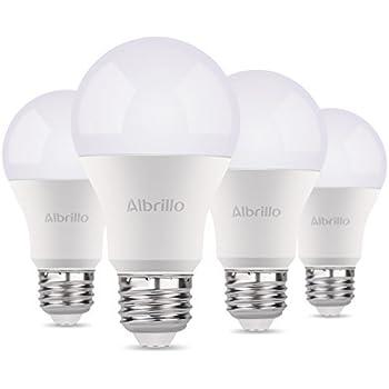 Albrillo A19 Light Bulb E26 LED Bulb 9W, 60 Watt