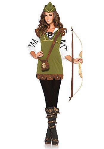 Leg Avenue Women's Classic Robin Hood Costume, Olive, (Robin Hood Tunic)