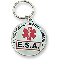 WORKINGSERVICEDOG.COM Official Emotional Support Animal ESA Round Hanging ID Tag - Hang from a Collar, Vest, Harness or Leash. Great Form of Identification for Small to Large Emotional Support Dogs