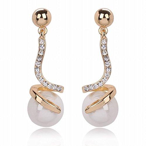ZRDMN European and American fashion Serpentine diamond pendant earrings female earrings Jewelry Earrings Water Drop Pendant Stud Earrings for (14k Serpentine Earrings)