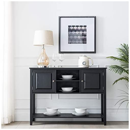 Kitchen HAWOO Rustic Console Table Buffets & Sideboards Table, Modern Sideboard with Storage Drawers Cabinets and Bottom Shelf… modern buffet sideboards