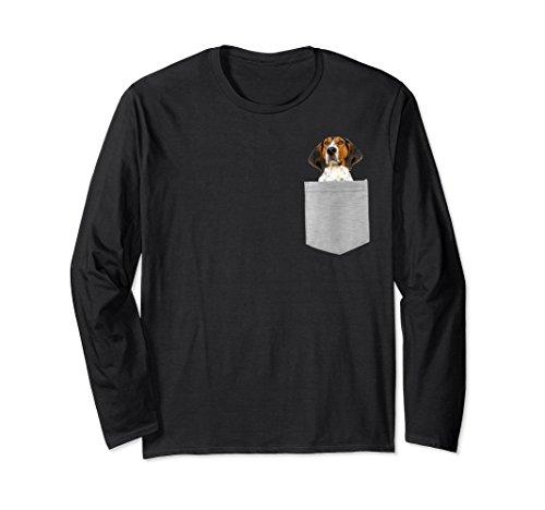 Unisex Dog r Pocket Treeing Walker Coonhound Longsleeved T-shirt Large Black (Hound Long T-shirt Sleeved)