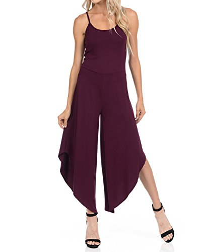 Footed One Piece Bodysuit - Ladybug Women Catsuit Cotton Lycra Tank Long Sleeve Yoga Bodysuit Jumpsuit/one Piece Footed Jumpsuit (2X, Plum(Modal))