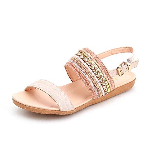 Caviglia Donna da Cinturino Sandali Sandali Alla SmrBeauty Donna con Piatti 5xwR0ZEnq