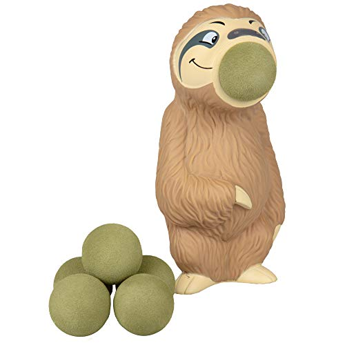 Hog Wild Sloth Popper Toy - Shoot Foam Balls Up to 20 Feet - 6 Balls Included - Age 4+