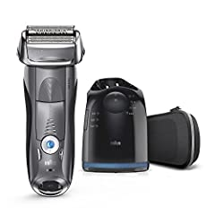 The Braun Series 7 is the ultimate electric shaver that reads and adapts to your beard, with built-in Responsive Intelligence for a close and gentle shave. A 100% waterproof electric razor designed to last up to seven years, it can be used to...