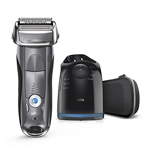 Braun Series 7 Men's Electric Foil Shaver with Wet & Dry Integrated Precision Trimmer & Rechargeable and Cordless Razor with Clean&Charge Station, 7850cc