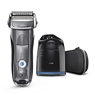 Braun Series 7 Men's Electric Foil Shaver with Wet & Dry Integrated Precision Trimmer & Rechargeable and Cordless Razor with Clean&Charge Station, 7850cc (B07F7MRW2G) | Amazon price tracker / tracking, Amazon price history charts, Amazon price watches, Amazon price drop alerts