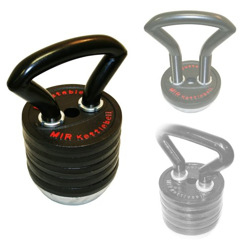 Mir® - Pro 83lbs Adjustable Kettlebell( From 10lbs to 83lbs ) by MiR
