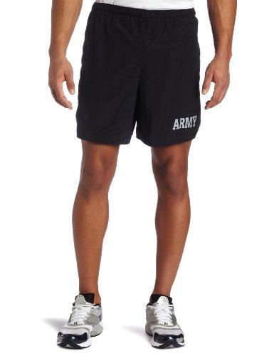 Soffe Mens US Army PT Short,Black,Large