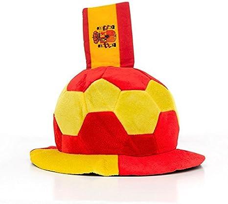 Eurowebb gorro en forma de balón de fútbol con la bandera de España en relieve – Disfraz Aficionado España: Amazon.es: Electrónica