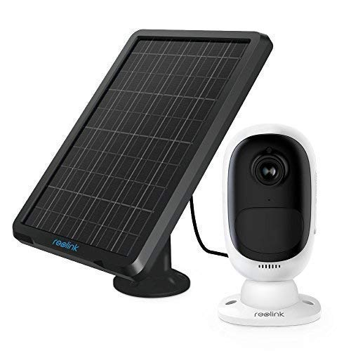 Reolink Argus 2+Solar Panel | Rechargeable Battery-Powered Security Camera | Outdoor Wireless |1080p HD Wire-Free 2-Way Audio Starlight Color Night Vision w/PIR Motion Sensor & SD Socket
