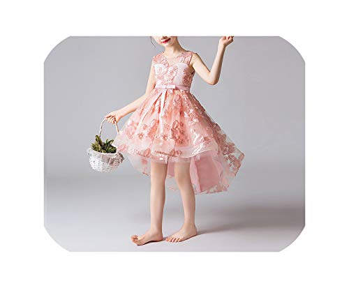 Girl Dress Gorgeous Pageant Flower Wedding Birthday Party Kids Dresses Children's,pink2,3T]()