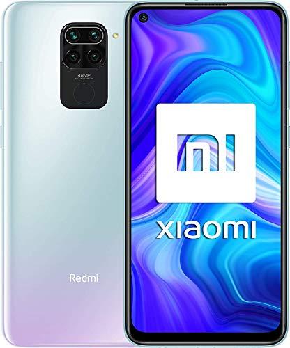 Xiaomi Redmi Note 9 – Smartphone con Pantalla FHD+ de 6.53″ DotDisplay (3 GB+64 GB, Cámara cuádruple de 48 MP con IA, MediaTek Helio G85, Batería de 5020 mAh, 18 W de Carga rápida), Blanco