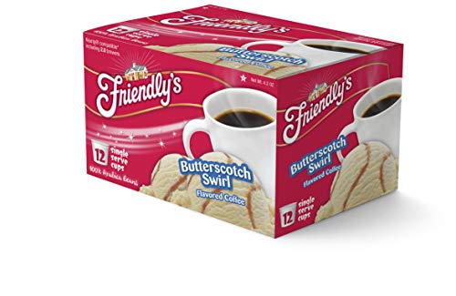Friendly's Butterscotch Swirl Flavored Coffee Pods for Keurig K-Cup Brewers, 12 Count