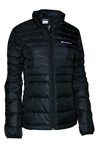 Columbia Women's Lightweight McKay Lake Down Full Zip Puffer Jacket (Black, L)