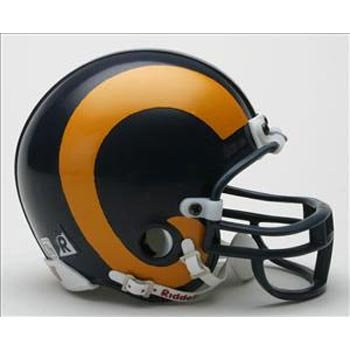Los Angeles Rams 1981-99 Replica Throwback Mini-Helmet (St Louis Rams Replica Helmet)