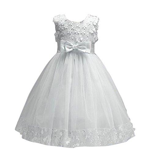 Grande Robes Vintage Robe De Mariage De Costume Hôte Fête Enfant Bowknot Balle Robe Blanche Ivoire Filles Jianlanptt