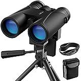 12x42 Binoculars for Adults, VEMTONA Professional Binoculars Compact for Bird Watching/Outdoor/Travel/Concert, Waterproof Telescope HD BAK4 Prism FMC Lens with Tripod/Neck Strap/Carrying Bag