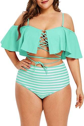 Striped 2 Piece Swimsuit - 2