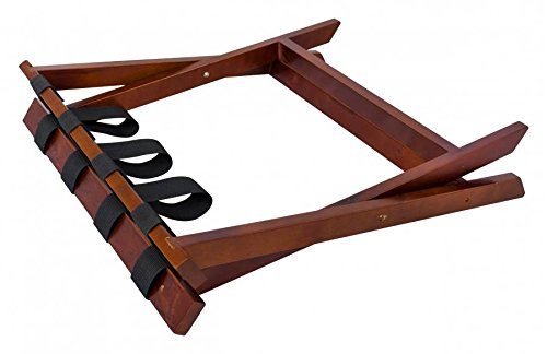 Ex-Cell Folding Luggage Rack Box of 6 - Walnut by excell