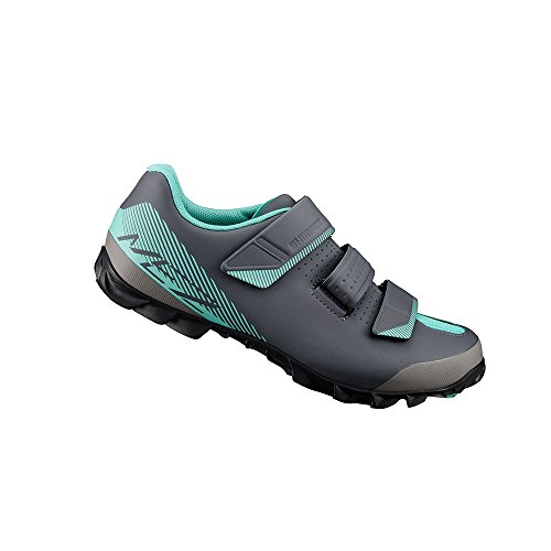 SPD Mountain Cycling Black Enduro Women's Shoes Green Three Shimano Strap qXYZxww