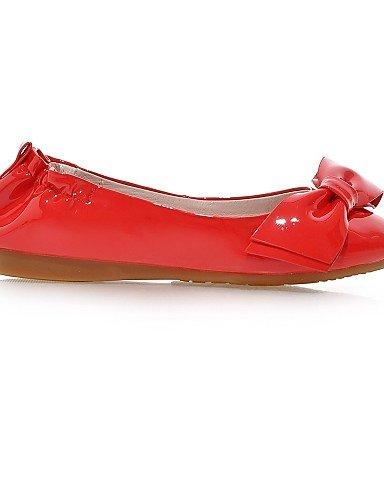 PDX/ Damenschuhe - Ballerinas - Kleid - Kunstleder - Flacher Absatz - Rundeschuh - Rot / Mandelfarben red-us6.5-7 / eu37 / uk4.5-5 / cn37