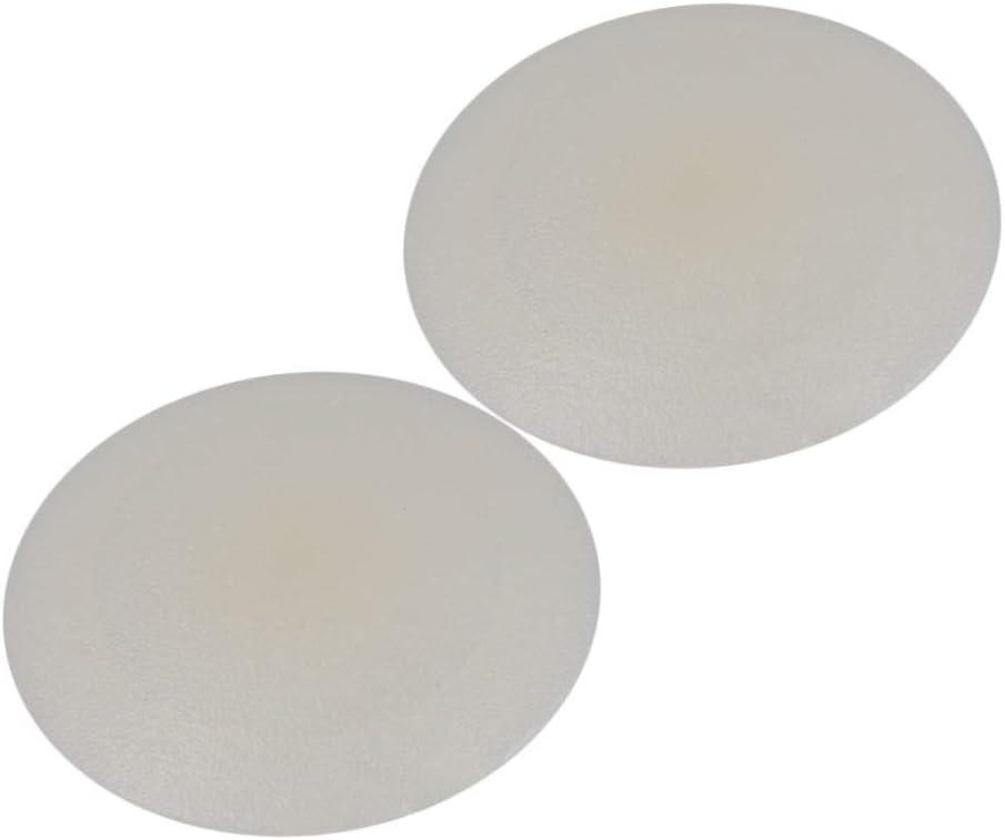 Yibuy 2000pcs Cream White PP Plastic Cross Screw Cap Covers Decoration 1.2cm