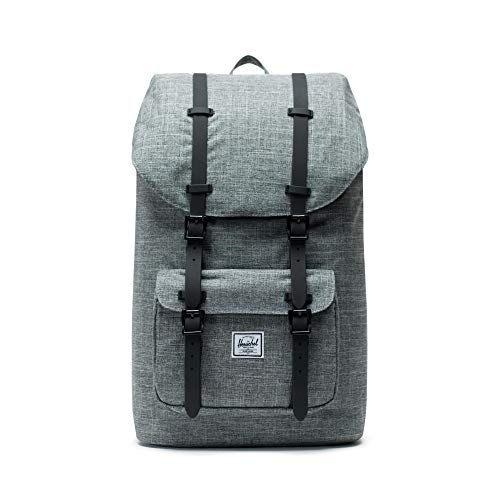 Herschel Little America Backpack-Raven Crosshatch/Black