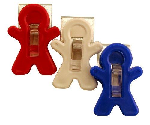 Super Magnet Man - Adams Manufacturing All-American Magnet Man Clip, 3-Pack