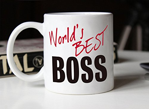 MAUAG Christmas Gifts World\'s Best BOSS Coffee Mug Funny Ceramic Mug ...