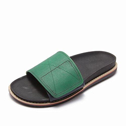 Perezosos Verano Arrastre Masculina Tendencia Personalidad Juvenil Palabra Verde Zapatillas Del Creativa An Desgaste Moda qXfH1w