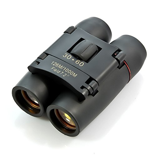 YU Binoculars Day and Night with 30X60 Times Telescope High - Definition Outdoor Travel Camping,Black