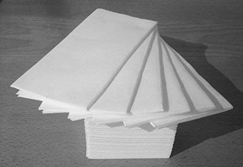 50 Luxury White Paper Airlaid Disposable Paper Hand Towels - 8 Fold (2 x packs of 25)