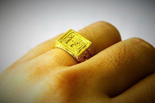 Costume Jade Mara (Size No.10 Thai Amulet Old Talisman Yant Na Ring Lp Du Wat Sakae Brass Buddha Amulet With Special)