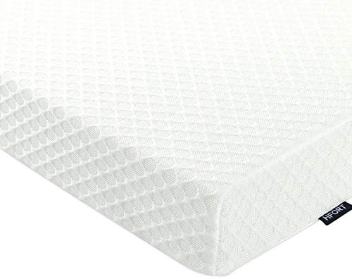 HIFORT 2 Inch Memory Foam Mattress Topper Full, Cooling Gel-Infused Bed Pad with Removable Washable Cover, CertiPUR-US Full Size, 75 x 54in