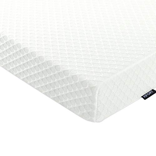 HIFORT 3 Inch Memory Foam Mattress Topper Queen, Cooling Gel-Infused Bed Pad with Removable & Washable Cover, CertiPUR-US (Queen Size, 80x60in)