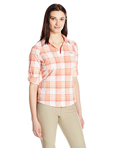 Dobby Y 28 De Coral Mujer Camiseta Columbia Light Para Plaid Acampada Senderismo AqFwxBT