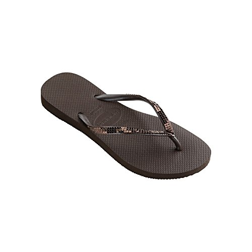 Sandal Metal Havaianas Dark Brown Woman Slim PqtqBAwYp