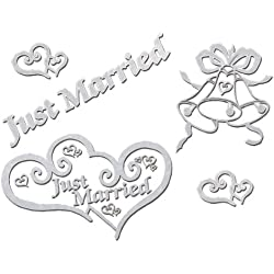 Darice VL3007, Bridal Car Window Cling 11-Piece, 4-Sheet, 8-Inchby13 1/4-Inch