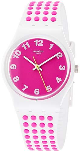 Swatch Originals Pinkdots Pink Dial Silicone Strap Unisex Watch GW190