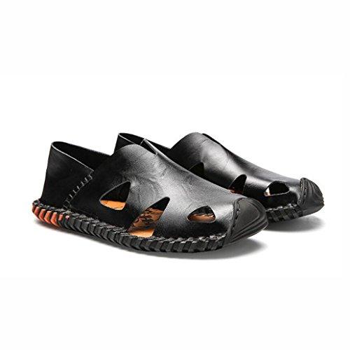 Cerrado Transpirable Segundo Beach Cuero Moda Sudor Aire Shoes Caminar para de y Colisión Verano Sandalias Libre 39 Absorbente Sandalias Color Tamaño Caminar al Cool Casuales UN Hombre Anti qvwx8I