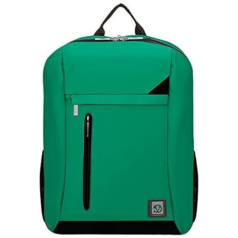 VanGoddy Jade Green with Black Trim Laptop Backpack for MSI Prestige / GT Series (Msi Gt70 Gtx980)