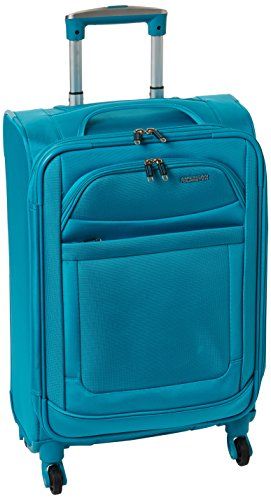 American Tourister Ilite Max Softside Spinner 21, Light Blue (American Tourister Delite 21 Spinner Carry On Luggage)