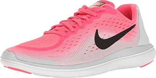 Nike Girl's Flex RN 2017 (GS) Running Shoe Racer Pink/Black/Pure Platinum/Lava Glow Size 7 M US (Girls Running Shoes Nike)