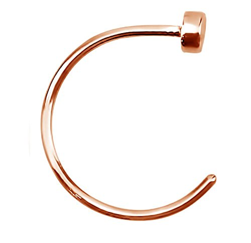 Forbidden Body Jewelry 22g 8mm Rose Gold Tone Surgical Steel Perfect Basics Comfort Fit Nose ()
